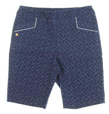 New Womens EP Pro Geo Print Golf Shorts Size Medium M Inky Blue MSRP $98 8231NBC