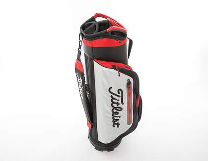 New Titleist Club 7 Cart Bag Black/White/Red