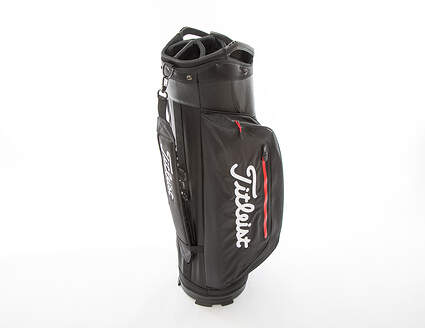 New Titleist Club 7 Cart Bag Black/Black/Red