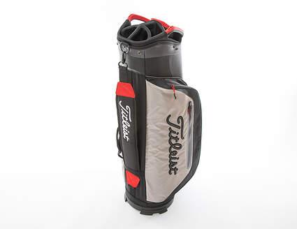 New Titleist Club 7 Cart Bag Black/Granite/Red