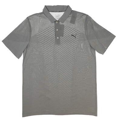 New Mens Puma Evoknit Seamless Golf Polo Large L Gray MSRP $75 573283 02