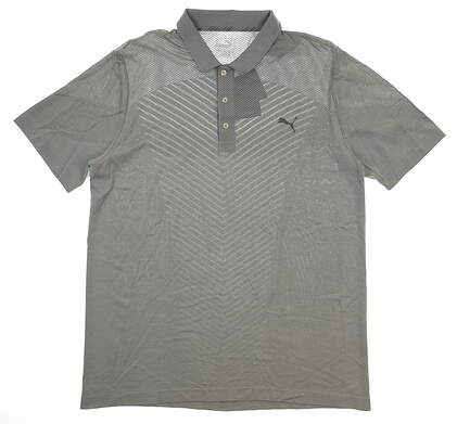 New Mens Puma Evoknit Seamless Golf Polo X-Large XL Gray MSRP $75 573283 02
