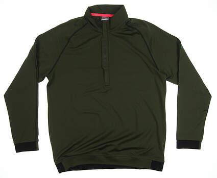New Mens Puma PWRWARM 1/4 Zip Golf Pullover Medium M Forest Night MSRP $80 576120 05