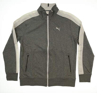 New Mens Puma T7 Track Jacket Medium M Gray MSRP $70 576141 03