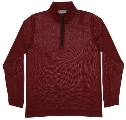 New Mens Puma Essential Evoknit 1/4 Zip Golf Pullover Medium M Maroon MSRP $70 577405 04