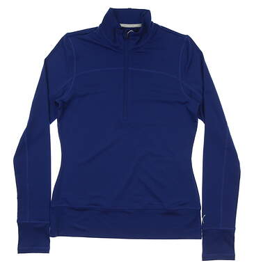 New Womens Puma 1/4 Zip Pullover Small S Sodalite Blue MSRP $65 572377 08