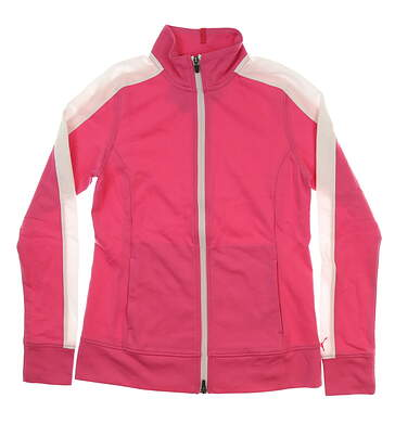 New Womens Puma Track Jacket Small S Carmine Rose MSRP $70 576149 03
