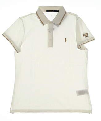 New Womens Ralph Lauren Tailored Fit Golf Polo Medium M White MSRP $105