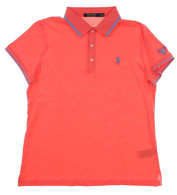 New W/ Logo Womens Ralph Lauren Tailored Fit Golf Polo Large L Pink MSRP $105