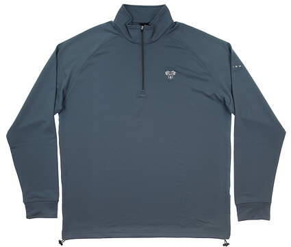 New W/ Logo Mens Dunning 1/2 Zip Pullover X-Large XL Blue MSRP $100 D7S12S965