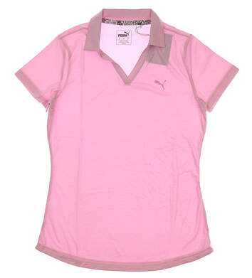New Womens Puma Softest Golf Polo Small S Pale Pink MSRP $55 577926 04