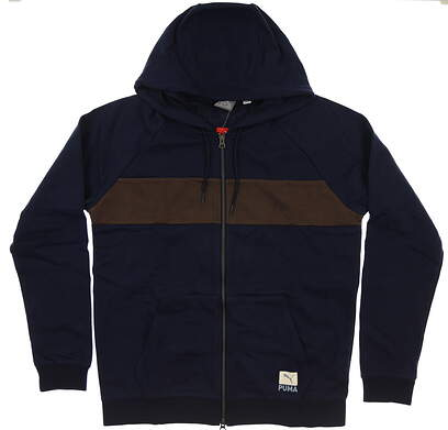 New Mens Puma Onshore Hoodie Medium M Navy Peacoat MSRP $75 578865 02