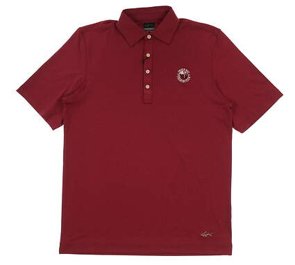 New W/ Logo Mens Greg Norman Golf Polo Small S Maroon MSRP $69 G7S6K422