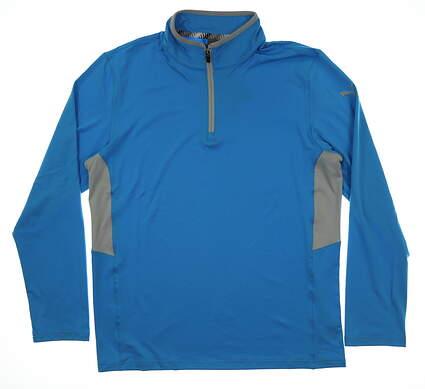 New Mens Puma Proven 1/4 Zip Pullover Medium M Bleu Azur MSRP $65 577900 05