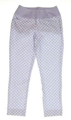 New Womens Puma PWRSHAPE Checker Golf Pants Size Small S Sweet Lavender MSRP $85 577955 03