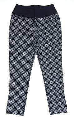 New Womens Puma PWRSHAPE Checker Golf Pants Size Small S Navy Blue MSRP $85 577955 01