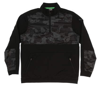 New Mens Puma Union Camo 1/4 Zip Pullover Medium M Iron Gate MSRP $90 577912 02