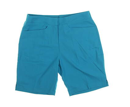 New Womens Puma Pounce Bermuda Shorts Size Small S Caribbean Sea MSRP $65 577944 05