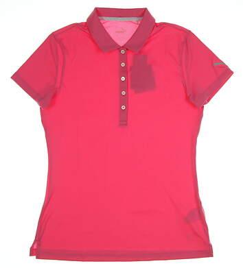 New Womens Puma Pounce Golf Polo Small SCarmine Rose MSRP $50 574652 09