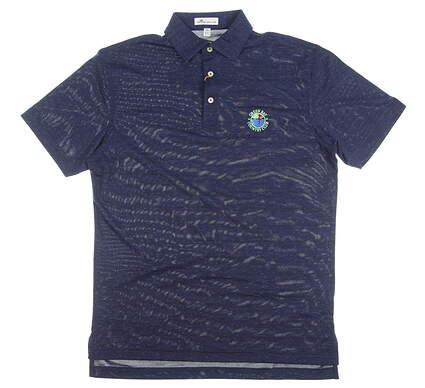 New W/ Logo Mens Peter Millar Golf Polo Small S Navy Blue MSRP $90 MF18EK62S