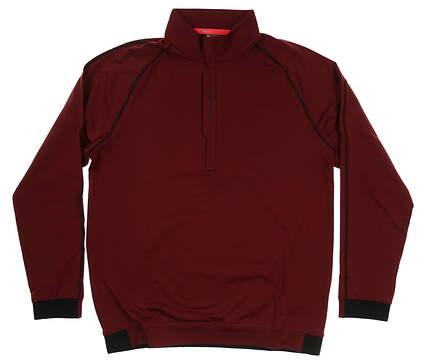 New Mens Puma PWRWARM 1/4 Zip Pullover Medium M Pomegranate MSRP $80 576120 04