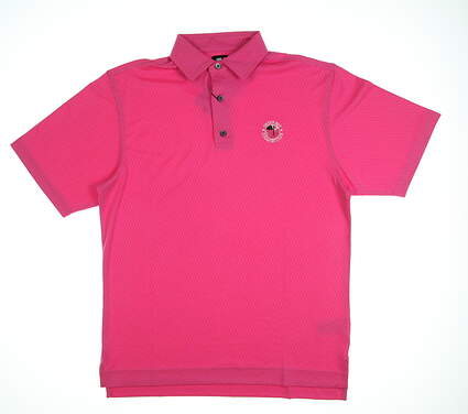 New W/ Logo Mens Footjoy Geometric Heather Polo Small S Island Pink MSRP $80 25688