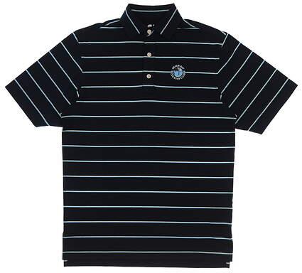 New W/ Logo Mens Footjoy Golf Polo Small S Navy Blue MSRP $79 25509