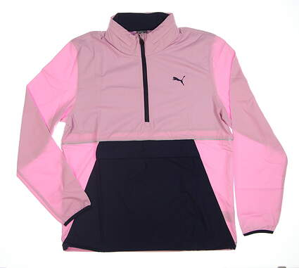 New Womens Puma Golf Jacket Medium M Pink 577896-02 MSRP $90
