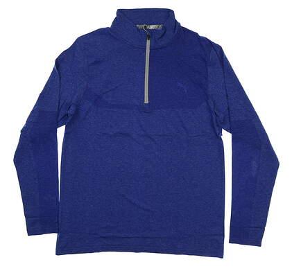 New Mens Puma Evoknit 1/4 Zip Pullover Medium M Surf the Web Heather MSRP $85 578794 05
