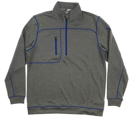 New Mens Puma Go Low 1/4 Zip Pullover Medium M Quiet Shade Heather MSRP $75 577899 03
