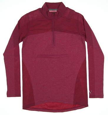 New Womens Puma Evokint 1/4 Zip Golf Pullover Small Magenta Haze MSRP $75 574645 09