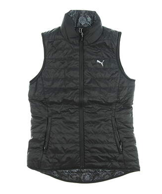 New Womens Puma PWRWARm Reversible Golf Vest Small S Mult/Blacki MSRP $98 573285 08