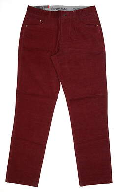 New Mens Puma Corduroy Golf Pants 32 x32 Pomegranate 576140 09 MSRP $85