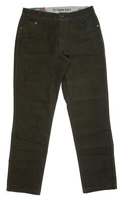 New Mens Puma Corduroy Golf Pants 32 x32 Forest Night 576140 05 MSRP $85