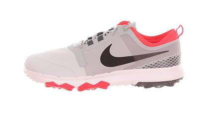 New Mens Golf Shoe Nike FI Impact 2 Wide 9 White/Grey/Coral MSRP $140