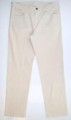 New Mens Straight Down Golf Pants 38 x34 Ecru 50122