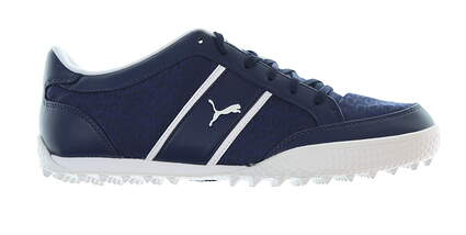 New Womens Golf Shoe Puma Monolite Cat 9 Navy Blue/White MSRP $50