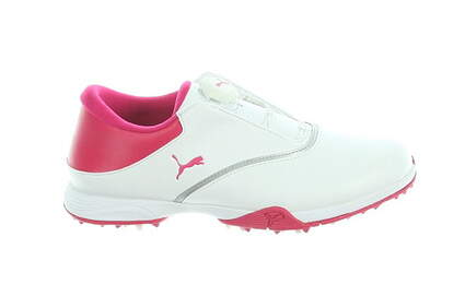 New Womens Golf Shoe Puma Blaze Medium 7.5 White/Rose MSRP $100
