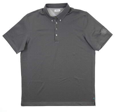 New W/ Logo Mens Adidas GOLF Polo XX-Large XXL Gray msrp $85