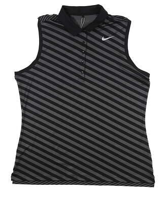 New Womens Nike Sleeveless Golf Polo X-Large XL Black 831271 MSRP $70