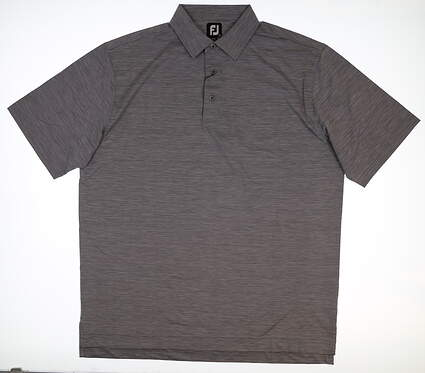 New Mens Footjoy Space Dye Lisle Self Polo X-Large XL Gray Heather 25567 MSRP $67.99