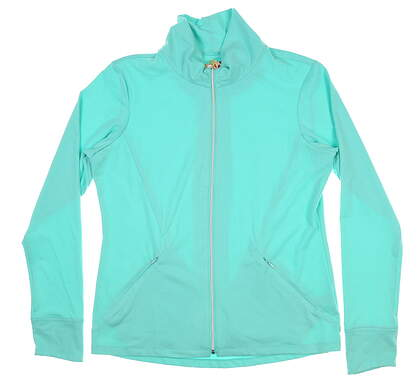 New Womens Sport Haley Full Zip Mock Neck Large L Mint/Sponge Green WE042008 MSRP $99.99