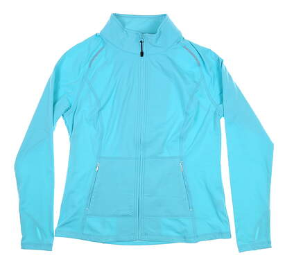 New Womens Sport Haley Full Zip Mock Neck Medium M Blue MSRP $99.99