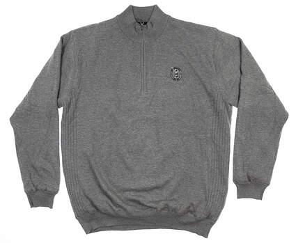 New W/ Logo Greg Norman Mens Golf 1/4 Zip Sweater X-Large XL Light Gray MSRP $100