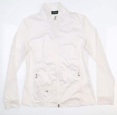 New Womens Golfino Golf Jacket Small S White MSRP $200