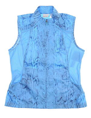 New Womens EP Pro Vest Medium M Melbourne Waterfall Blue Snakeskin Print 6431IC MSRP $89.99