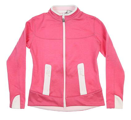 New Womens Peter Millar Jacket Small S Pink/White LS14EZ05 MSRP $119.99