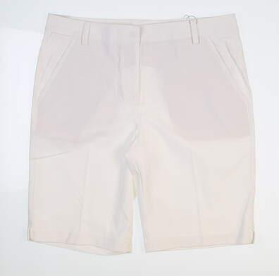 New Womens Puma Pounce Bermuda Shorts 12 Bright White 57391102 MSRP $64.99