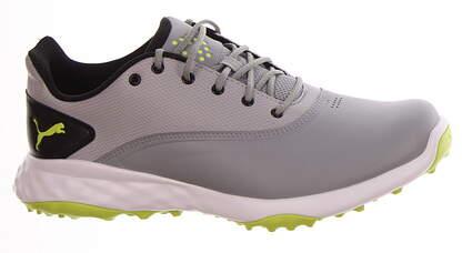 New Mens Golf Shoe Puma Grip Fusion Medium 9 Quarry-Acid Lime-Black MSRP $80