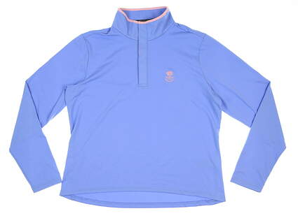 New Womens Ralph Lauren Golf Pullover Large L Blue MSRP $128